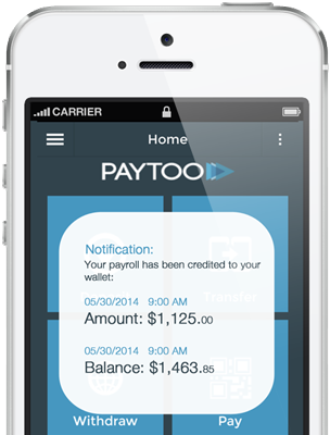 PayToo mobile wallet